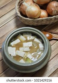 Asian food  Soybean Paste Stew ,miso soup