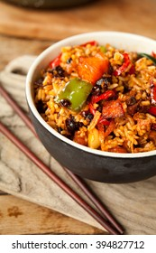 asian food spicy rice