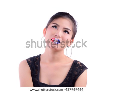 Asian Girl Have Labia France Flag