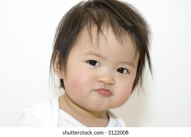 asian girl looking angry