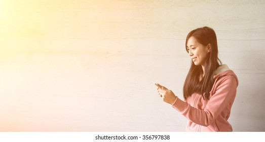 Asian girl use pad at home, concept of technology, working, internet etc.