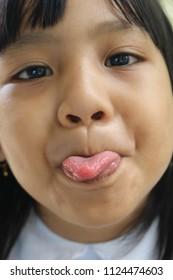 Asian teens sexy tongue #6