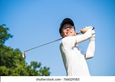 Asian golf player