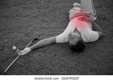 Asian golfer pain from play golf,Thailand people