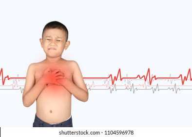 Asian kid with hypertension heart.
