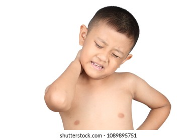 Asian kid with neck pain