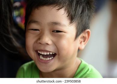 Asian Kid smiling