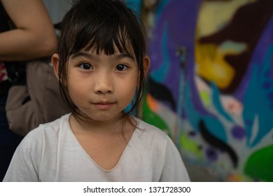 Asian kids little girl smiling happy