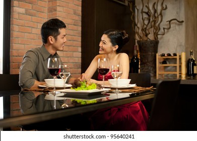 Asian Lifestyle Romantic Dinner