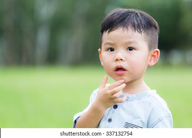 Asian little boy