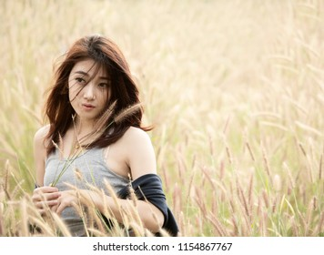 asian lonely woman