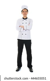 asian male chef full body