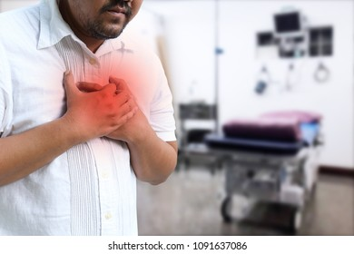 Asian man with hypertension heart