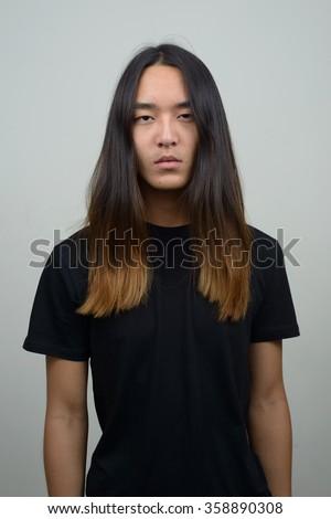 Asian mens long hair