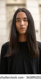Japanese Man Long Hair Images Stock Photos Vectors Shutterstock