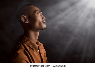 Asian man in prison