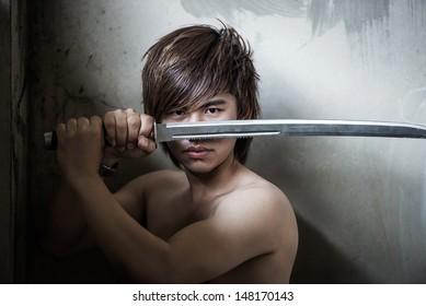Sword Boy Images, Stock Photos & Vectors | Shutterstock