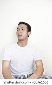 asian man in white shirt Portrait