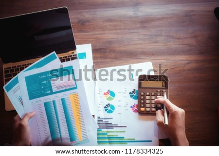asian man working calculator calculate numbers stock photo edit now