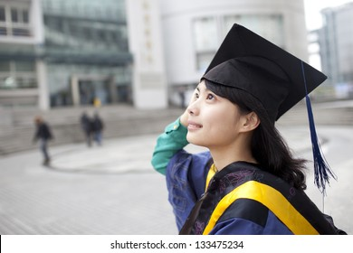 Asian master girl graduate looking for future