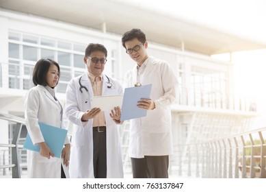 asian medical team outdoor