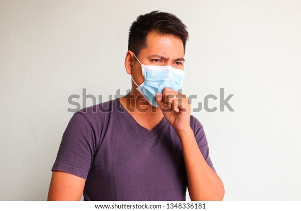 Now Cough Mask Surgeon Image Download Wear Asian Men Stock
