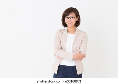 Asian middle age businesswoman