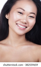 Asian model beauty glamour portrait. Beautiful Young Woman. Fresh Clean Perfect Skin