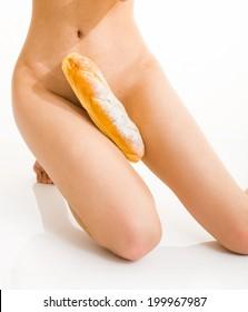 asian model sex and food Baguette