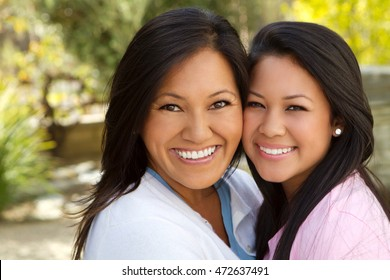 Asian Mother and Teenage Daughter