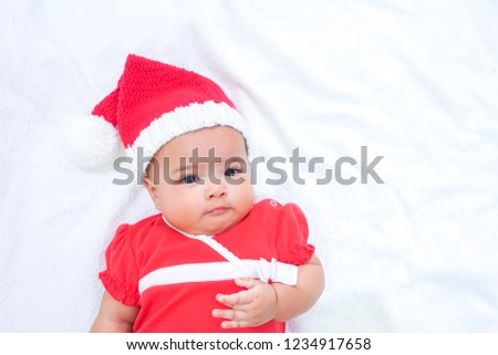 eb857c2a0f45 Asian Newborn Baby Wearing Red Dress Stock Photo (Edit Now ...