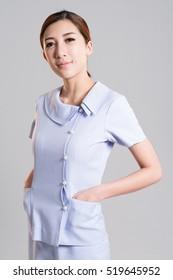 asian nurse in uniform
