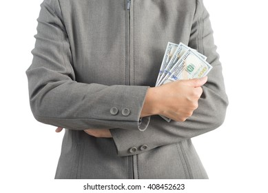 Asian office worker series : Holding money