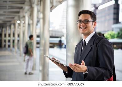 Asian Officer using tablet