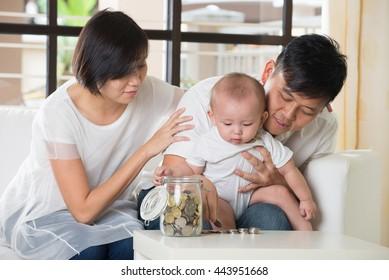 asian parent with education concept photo