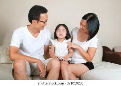Asian parent and their daughter