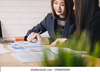 Asian people at a business meeting in meeting room. Bussiness financial concept