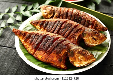 Asian recipe- Homemade grilled fish - healthy seafood concept,