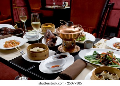 Asian restaurant set