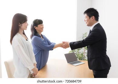 Asian salesman