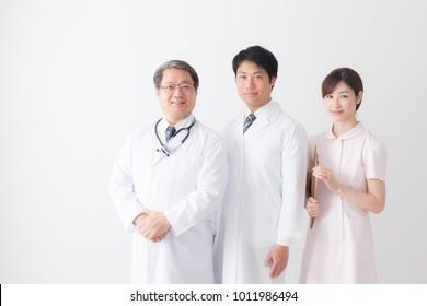 asian senior doctor