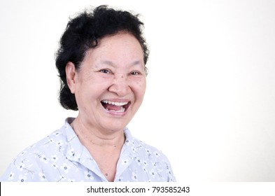 Asian Senior woman with glad expression