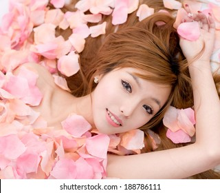 Asian sexy Girl in flower