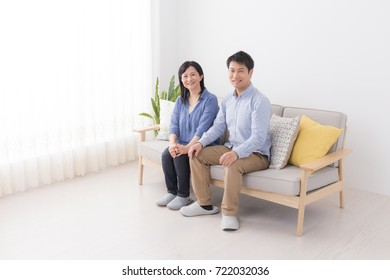 asian son and mother