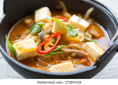 Asian soup with tofu
