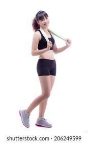 Asian Sport Girl Standing