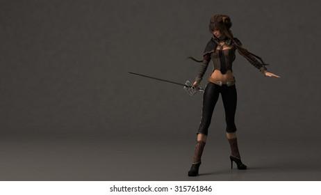 asian swordsgirl
