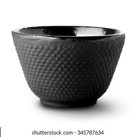 Asian tea bowl isolated on a white background
