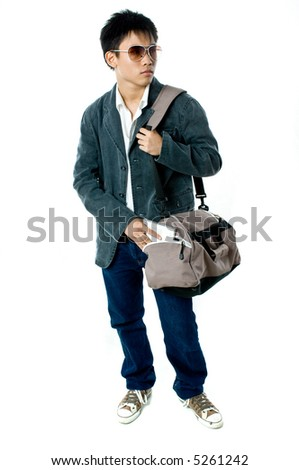 684d472849a74 Asian Teenager Casual Clothing On White Stock Photo (Edit Now ...
