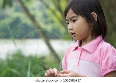 Asian Thailand Kids cute little girl